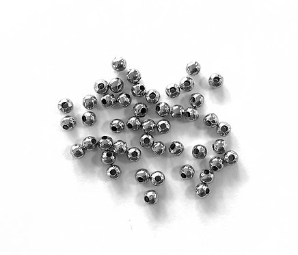 4mm Ball Beads, Silver Tone - Pack of 120