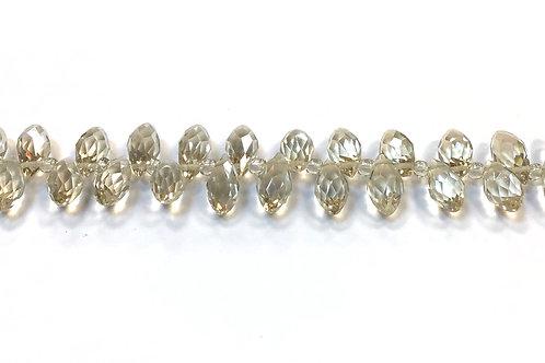 teardrop beads - crystal glass