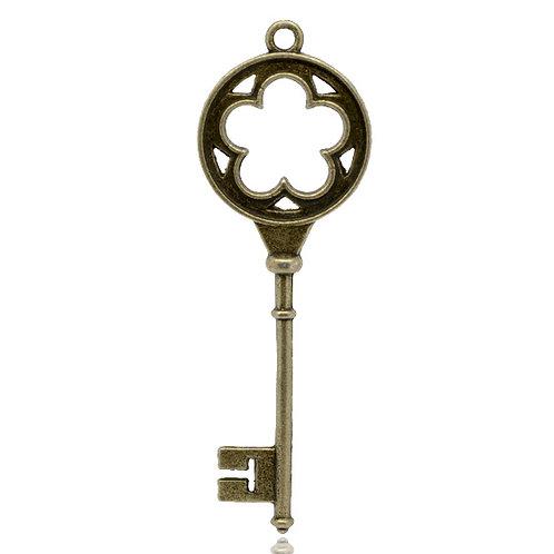Large Key - Bronze