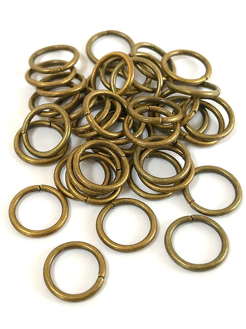 10mm Jump Rings - Bronze Plated