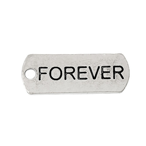 Charm Tag 'Forever' - Silver