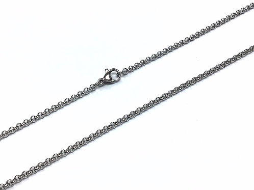 """Stainless Steel Rolo Chain - 80cm (31.5"""")"""