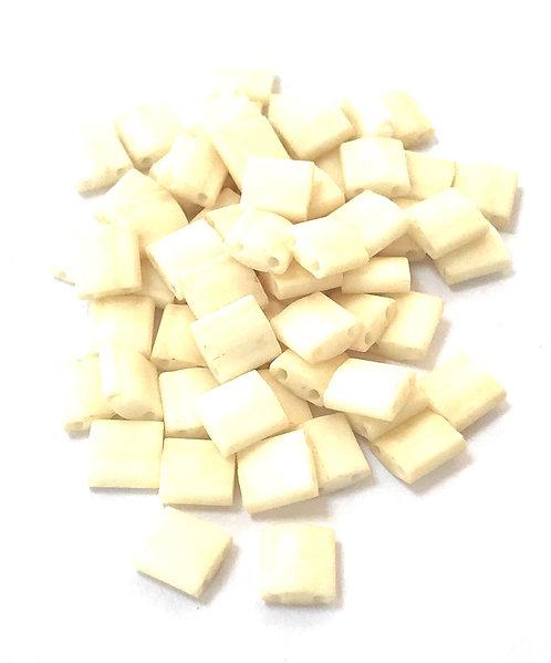 Miyuki Tila Beads - Matte Opaque Cream