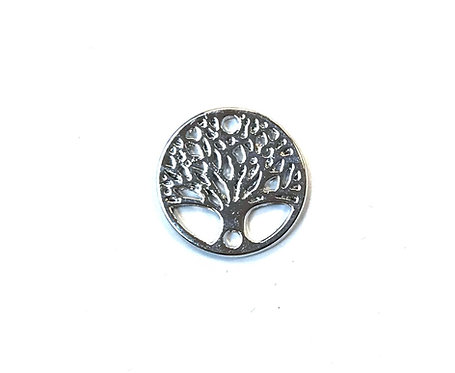 Tree of Life Connector, Silver Tone