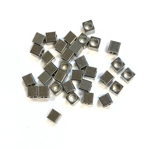 stainless steel cube beads