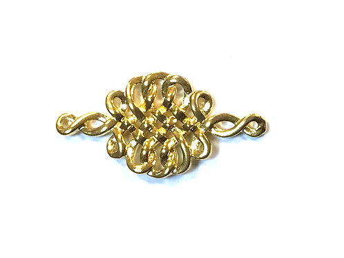 Celtic Knot Connector, Gold Tone