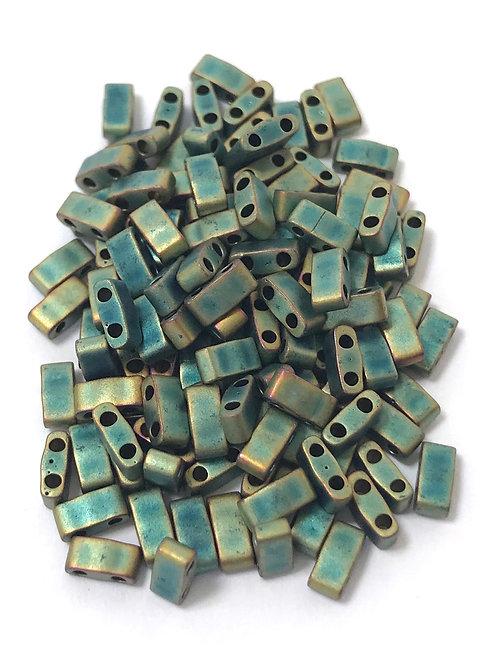 Miyuki Half Tila Beads - Matte Metallic Patina Iris