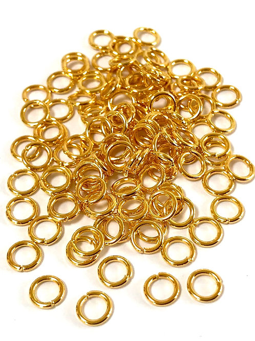 5mm Jump Rings - Gold Plated