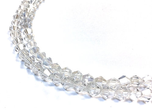 crystal glass bicone beads 6mm
