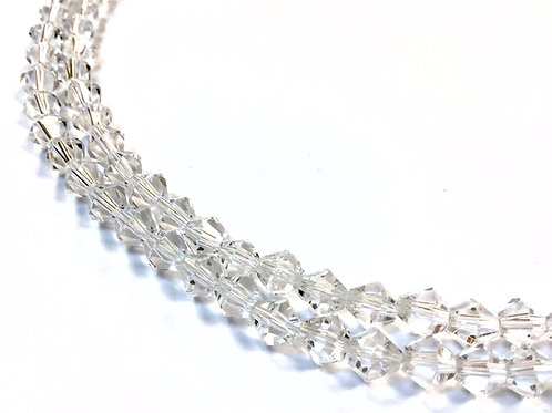 clear bicone beads 6mm