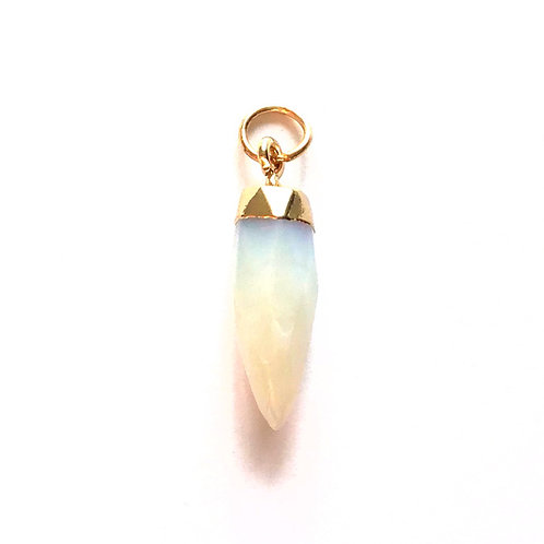 opalite gemstone bullet pendant