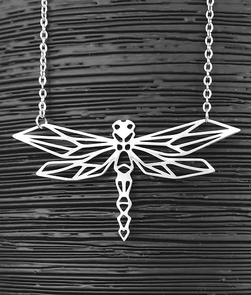 Geometric Dragonfly Necklace