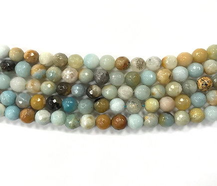 8mm Amazonite Beads - Faceted
