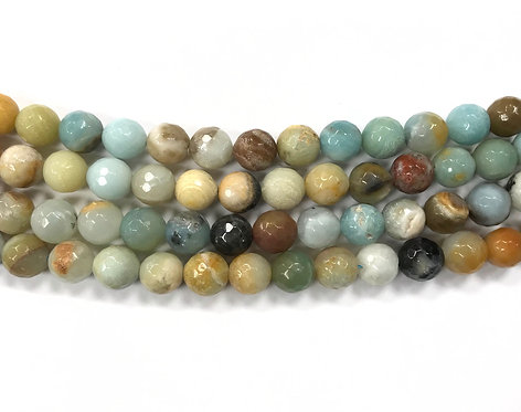 10mm Amazonite Beads - Faceted