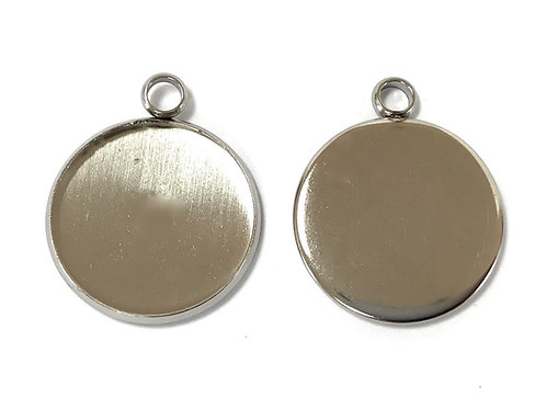 Stainless Steel Jewellery Setting - Fits 20mm