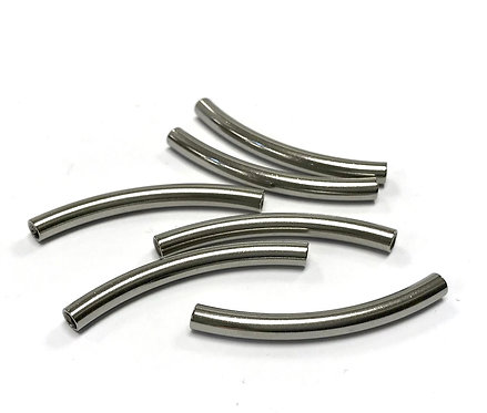 steel curved tube beads