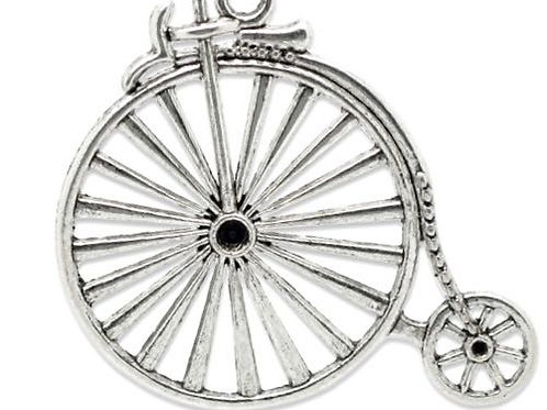 Penny Farthing - Silver