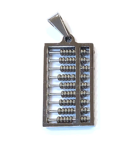Stainless Steel Abacus Pendant Charm