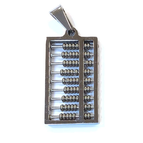 stainless steel abacus pendant