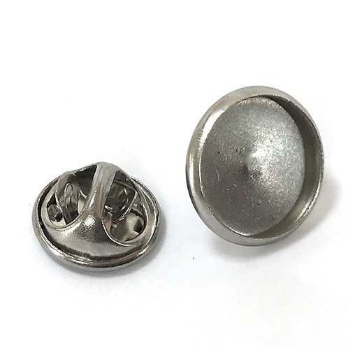 Stainless Steel Push Pin Brooch Setting - Fits 12mm