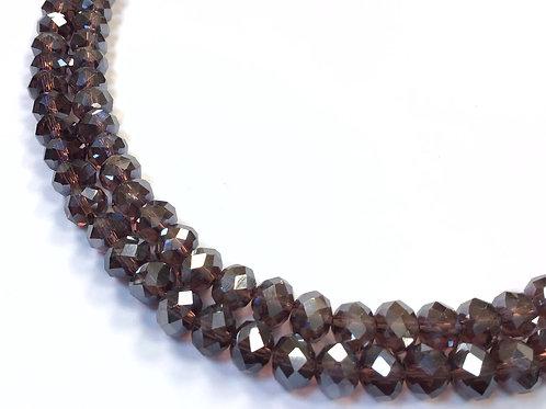 8mm purple ab crystal glass beads