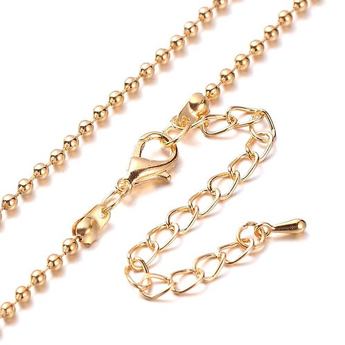 Ball Chain 76cm - Light Gold