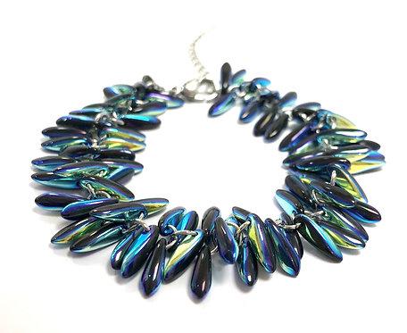 handmade electric blue bracelet