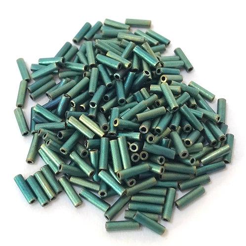 Miyuki Bugle Beads - Matte Metallic Patina Iris