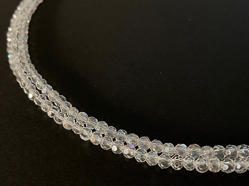 crystal glass clear ab round beads 4mm