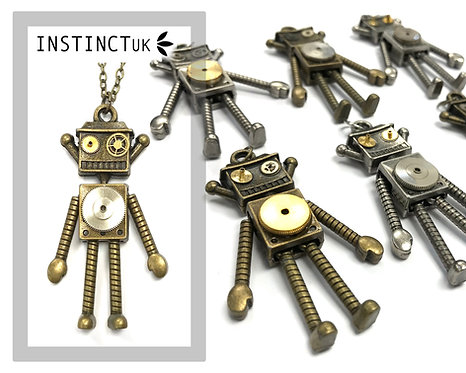 Robot Steampunk Necklace