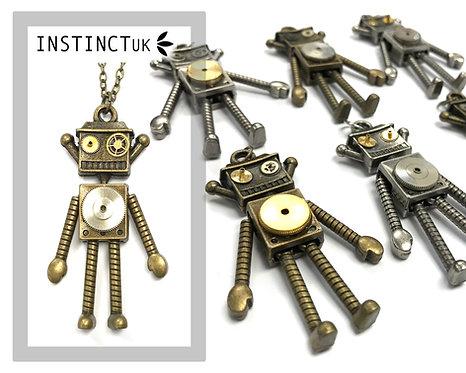 Robot Steampunk Necklace