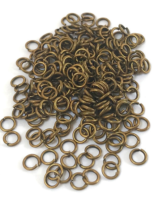 4mm Jump Rings - Bronze Plated