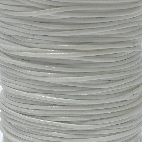 Wax Cotton Cord 1mm - White