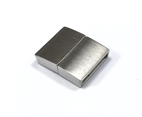 Stainless Steel Matte Magnetic Clasp - Fit 15x3mm