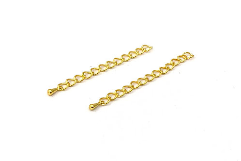 gold plated extender chain