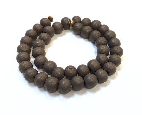 brown round wood beads 8mm