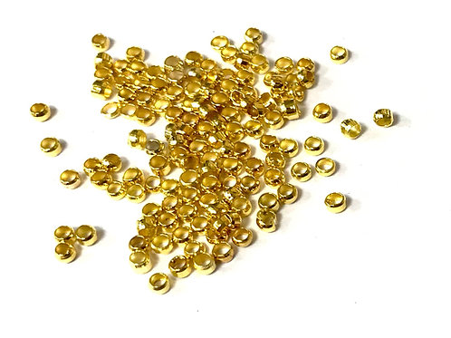 Crimps, Gold Plated - Size 2mm