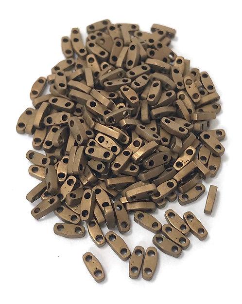 Miyuki Quarter Tila Beads - Matte Metallic Bronze