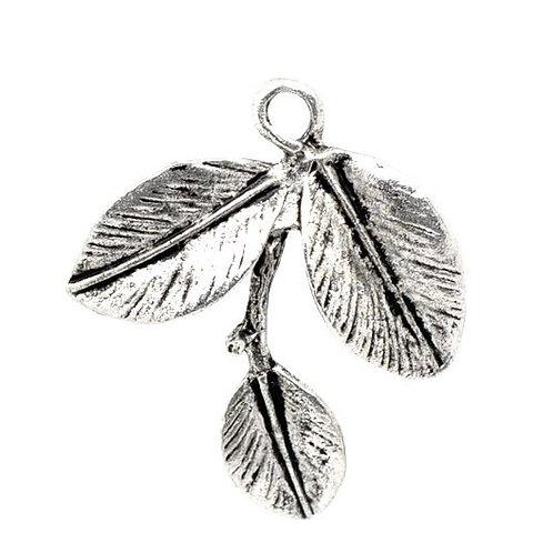 Three Leaf Charm - Silver