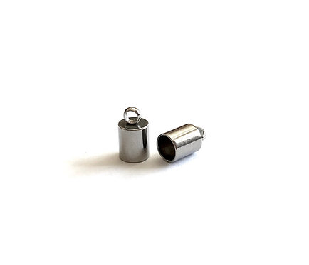 Stainless Steel Cord Ends - Fits 3mm