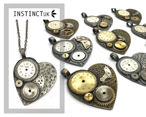 Heart Steampunk Necklace