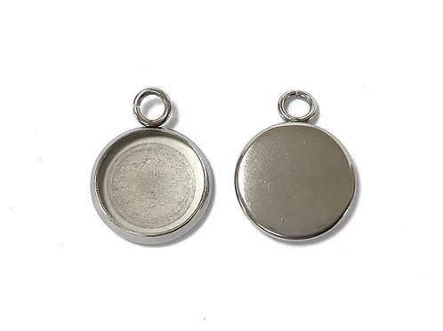 Stainless Steel Jewellery Setting - Fits 10mm