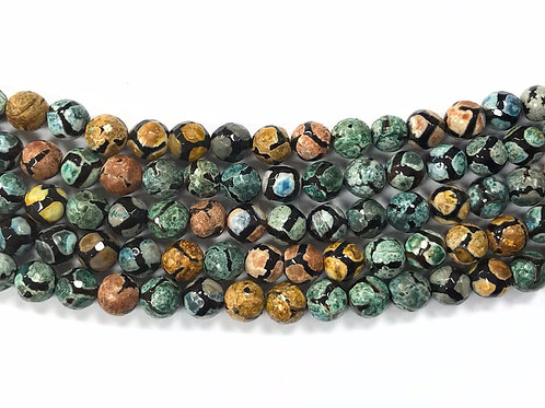 8mm Agate Beads - Green Mix