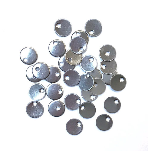 Stainless Steel Round Charm Tags