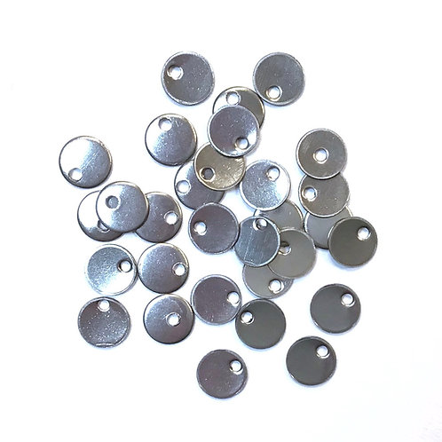 stainless steel round tags