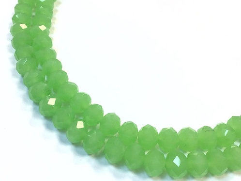 8mm opaque green crystal glass beads