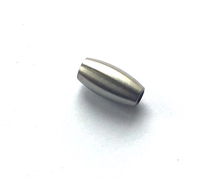 Stainless Steel Barrel Clasp - Fit 3mm Cord
