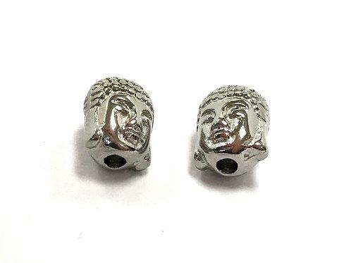 stainless steel bead - buddha head