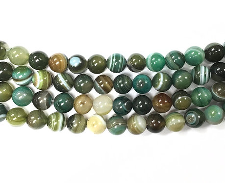 10mm Agate Beads - Green