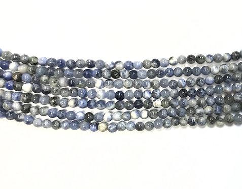 4mm Sodalite Beads